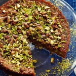 Pistachio, cardamom and olive oil cake
