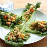 Confetti Quinoa and Chickpea Lettuce Wraps