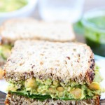 Smashed Chickpea Avocado Sandwich