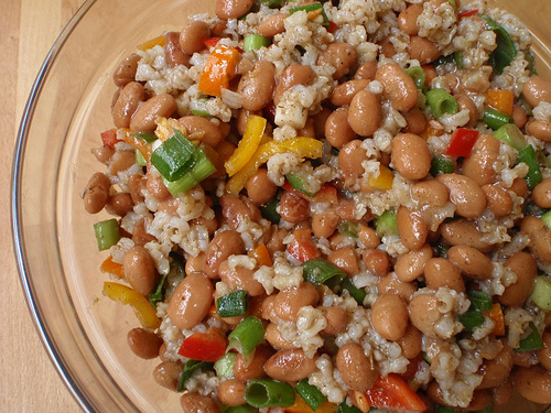 Pinto beans and brown rice