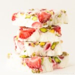 Strawberry and pistachio yogurt bars