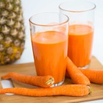 Pineapple and carrot Juice