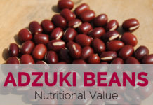 Adzuki beans Nutritional Value