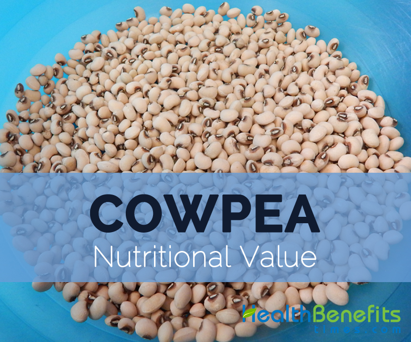 Nutritional value of cowpea pdf