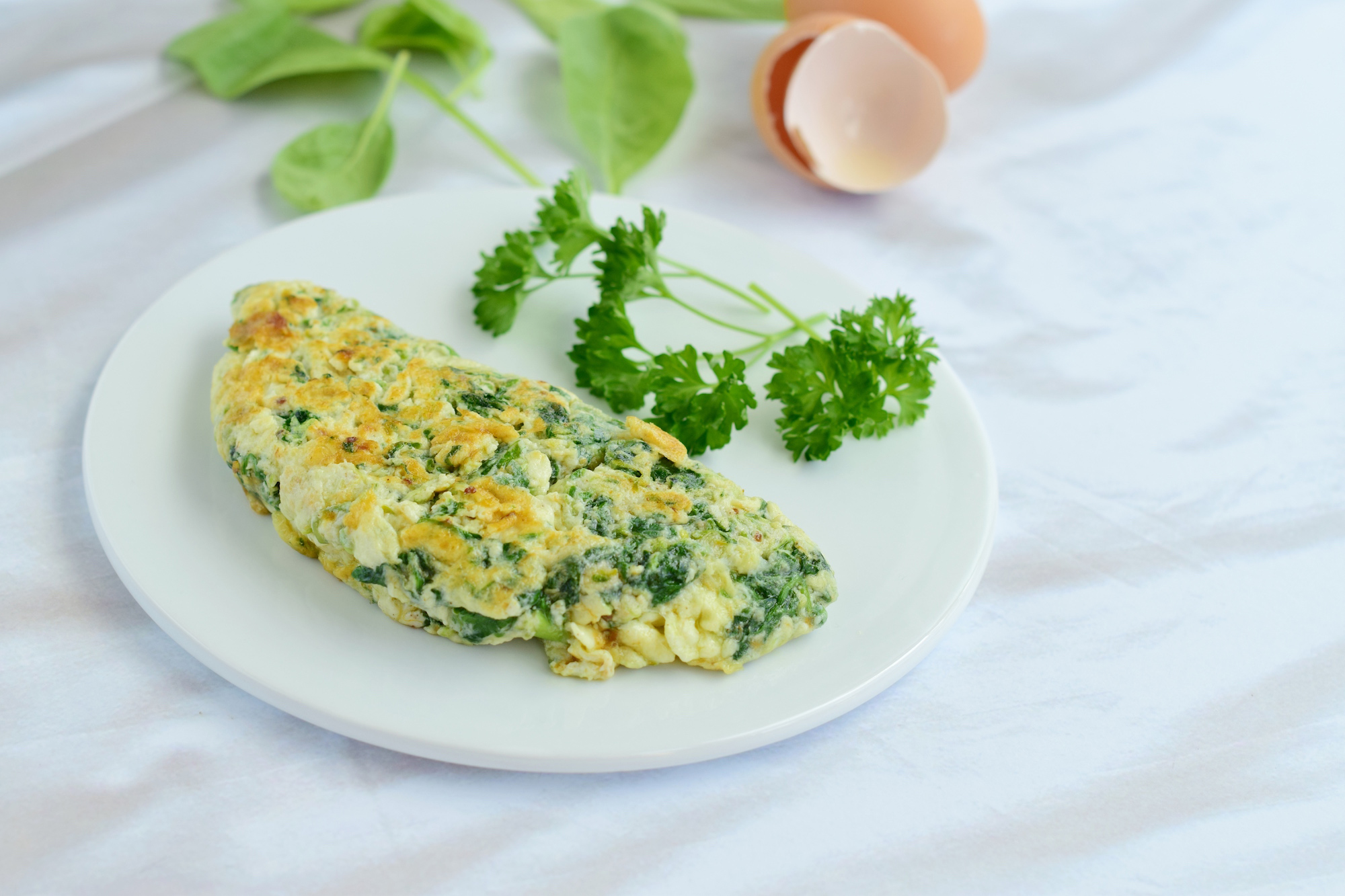Egg-white-spinach-alfalfa-sprout-omelette