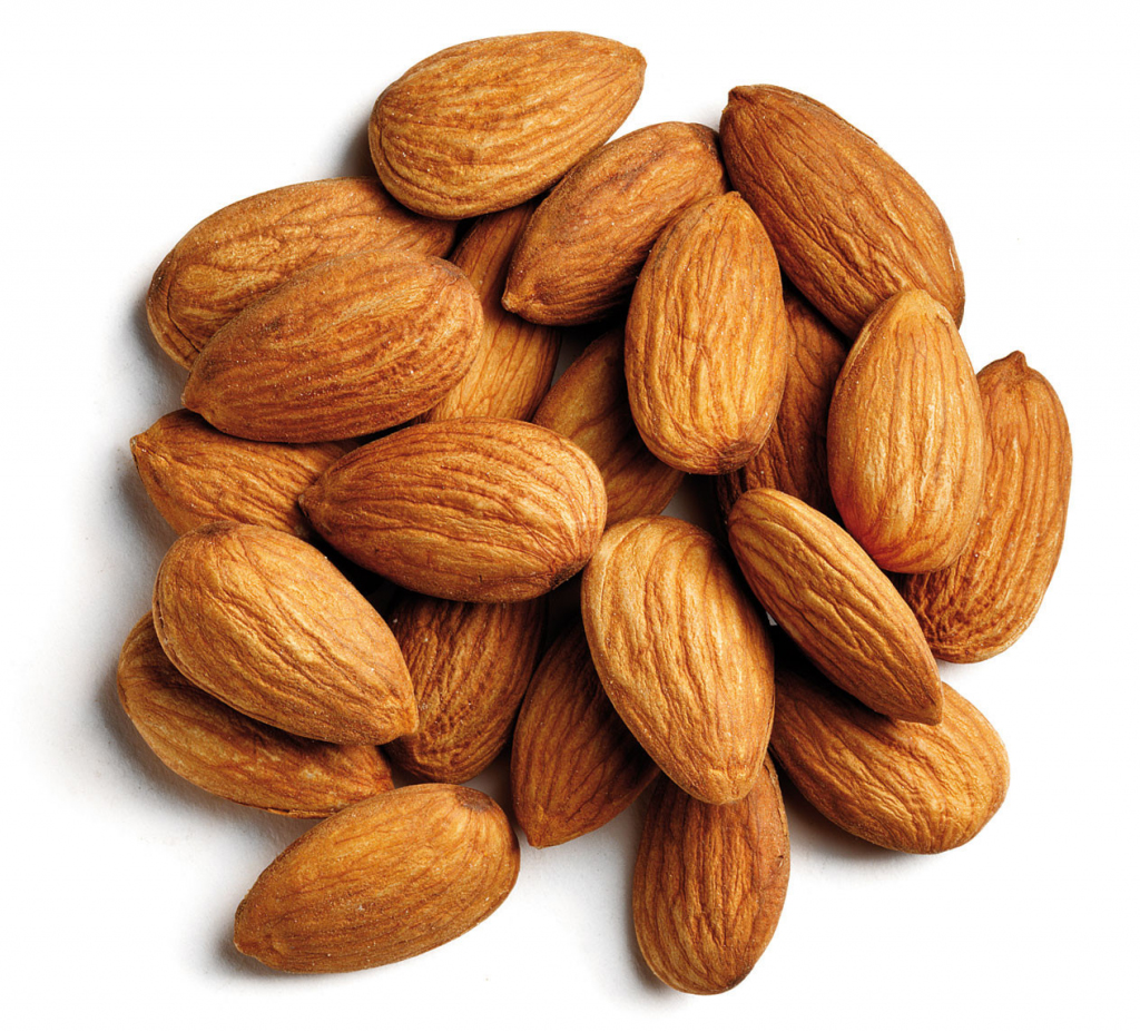 Almond-nut-collection