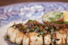 Shad-roe-with-brown-butter-capers-and-ginger