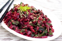 Asian Beet Greens Stir-Fry
