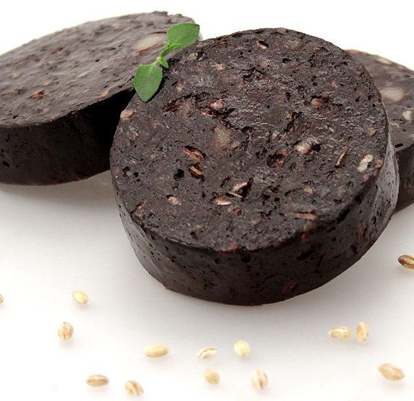 Close-view-of-Black-pudding-slice