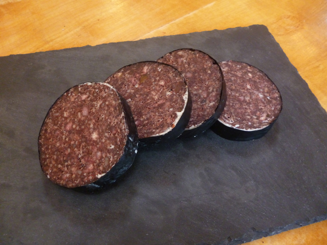 Slices-of-Black-pudding