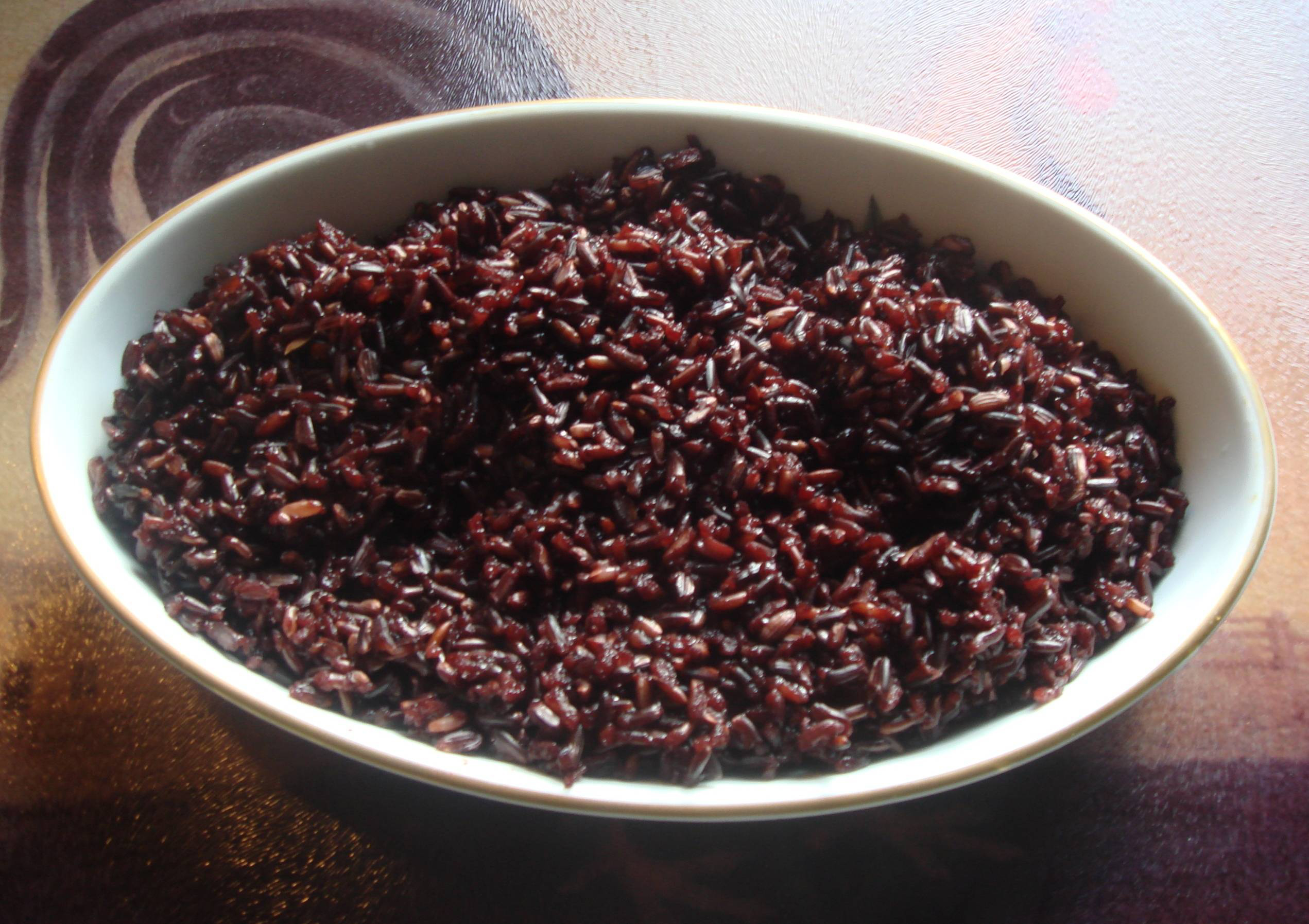 Black-rice-cooked