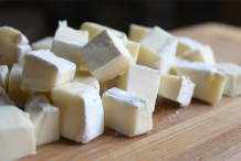 Cubes-of-Brie-cheese