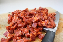 Chopped-chorizo
