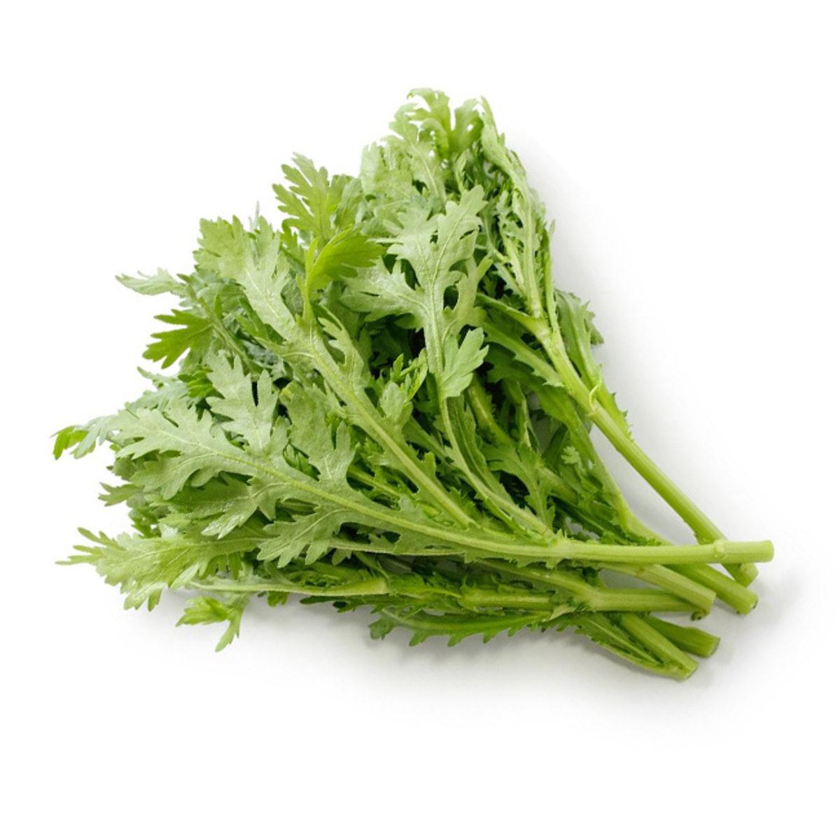 Crown-daisy-leafy-greens