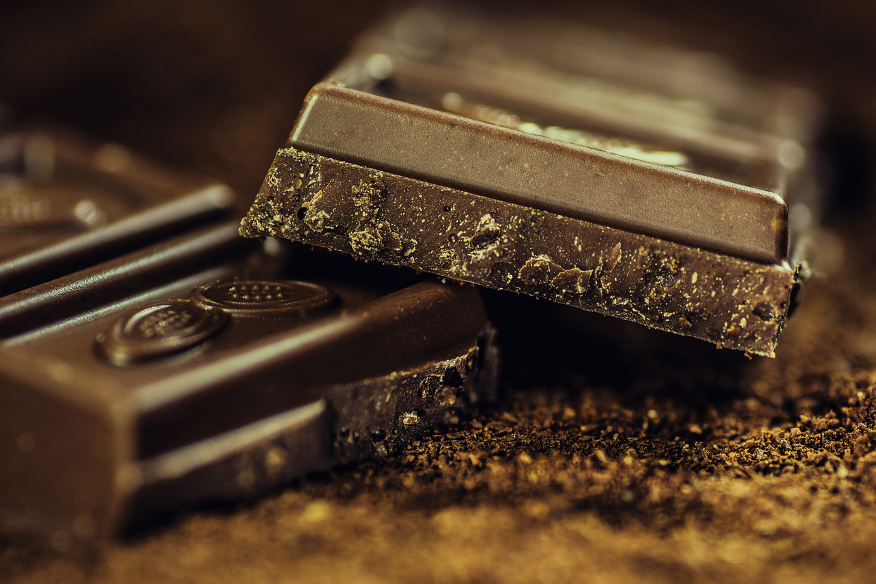 Close-view-of-Dark-chocolate