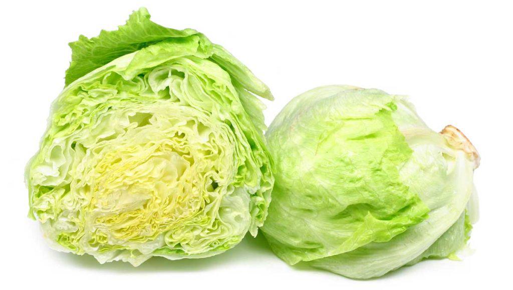 Half cut Iceberg lettuce