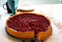 Lingonberry-pie