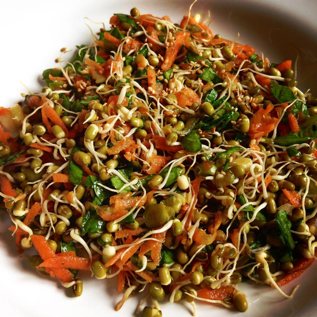 Mung-bean-sprout-salad