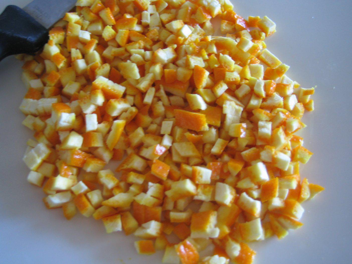 Chopped-Orange-peel