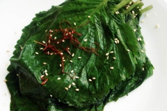Perilla leaf pickles