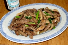 Mushroom-scallion-beef