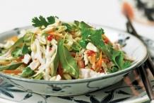 Poached-Chicken-Salad-with-Vietnamese-Coriander