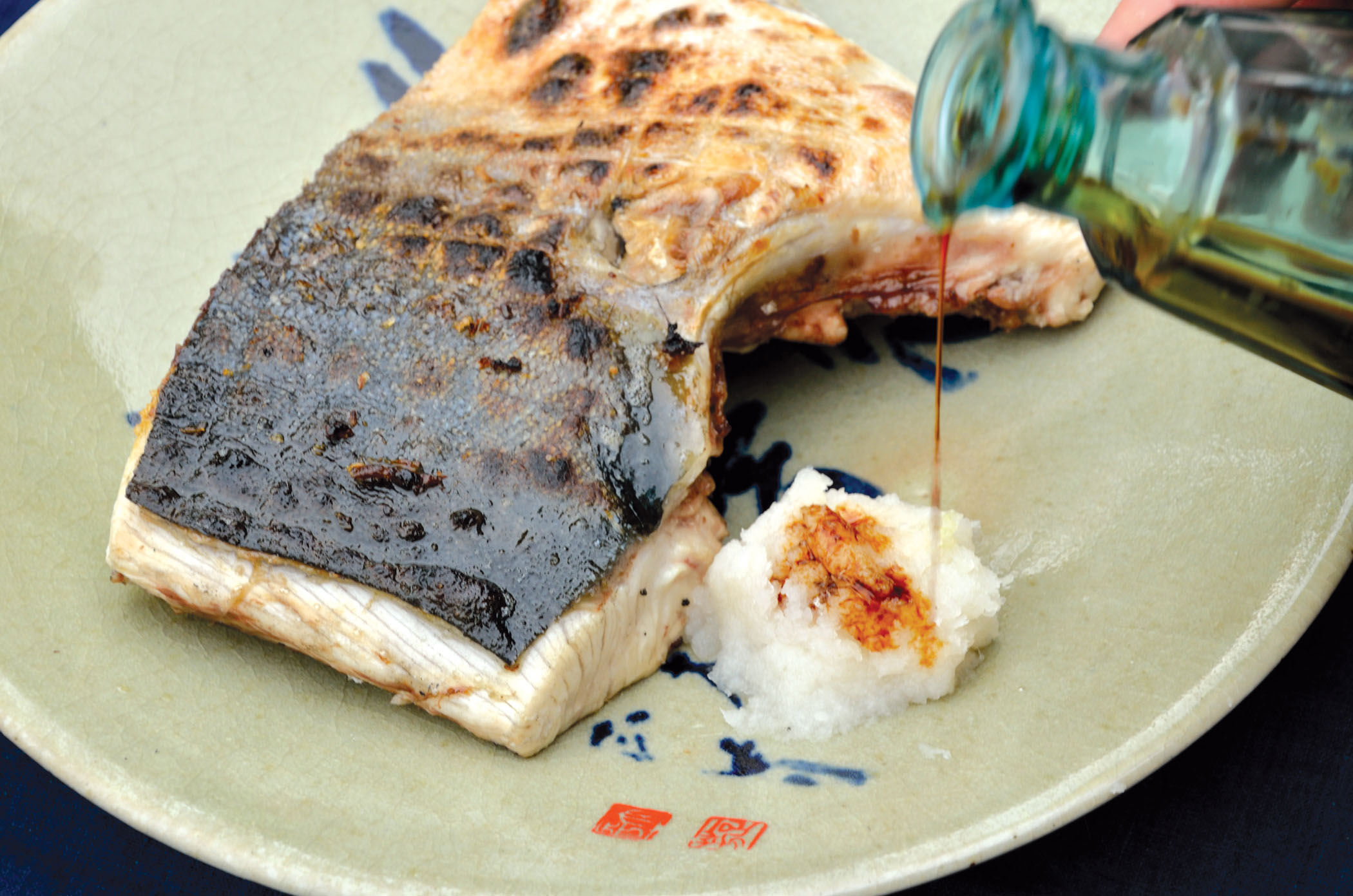 Charcoal-grilled-yellowtail-fish