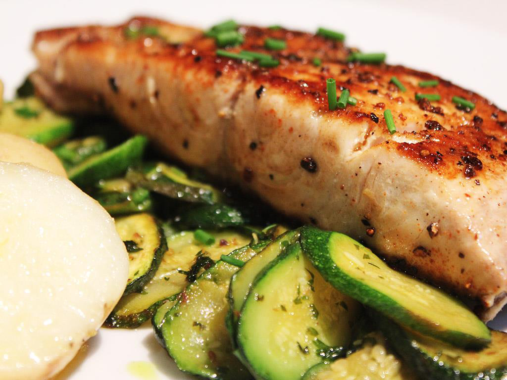 Yellowtail-fish-with-Herby-Courgettes