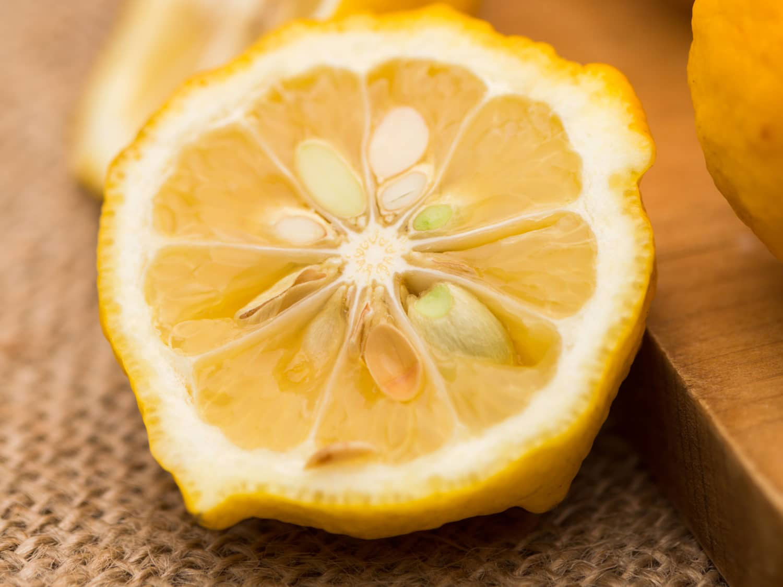 Half-cut-Yuzu-Fruit
