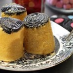 Steamed liquorice sponges