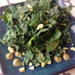 Organic Kale Salad with Papaya Seed Dressing