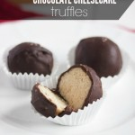 Sea Salt Chocolate Cheesecake Truffles
