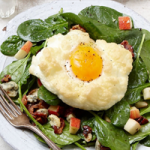 Cloud Eggs with Spinach Salad