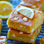 Soft and Chewy White Chocolate Lemon Blondies