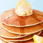 Pair fluffy pancakes with whipped lemon butter