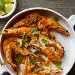 Grilled Butterflied Prawns with Sriracha-Lemongrass Butter