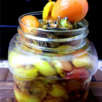 Sweet and Spicy Karanda Pickle with Green Chilies and Garlic