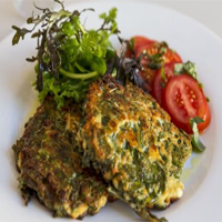 Sea beet fritters