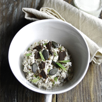 Raw Bircher Muesli with White Mulberries