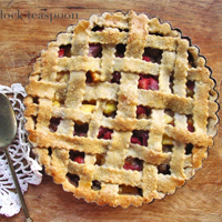 White Mulberry Peach Lattice Tart