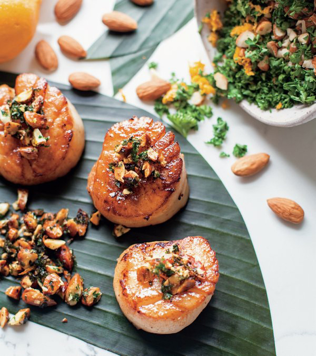 Butter Poached Scallops With Meyer Lemon Gremolata Recipe