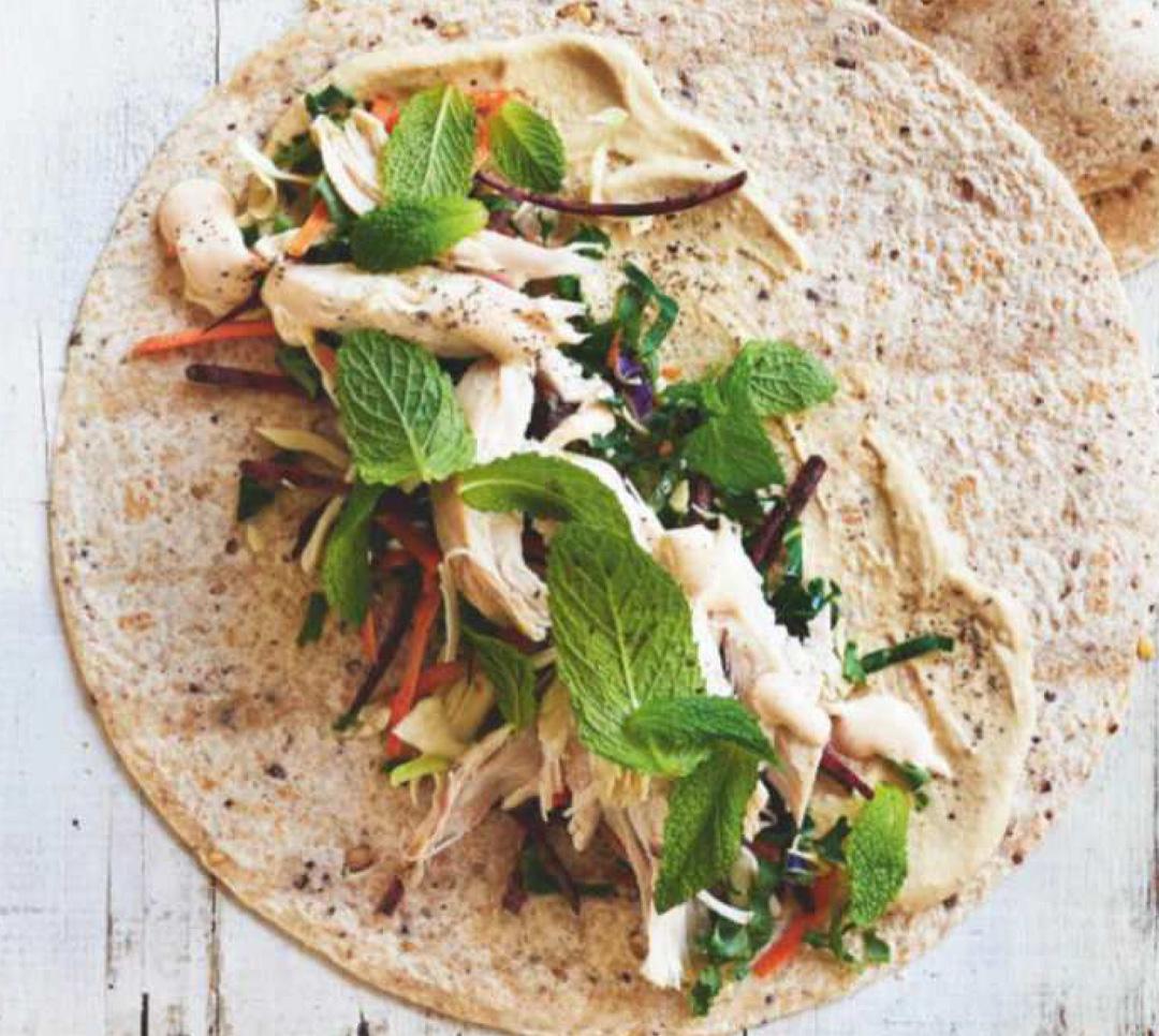 Spicy chicken slaw wraps recipe healthy recipe healthy food guide uk forumfinder Gallery