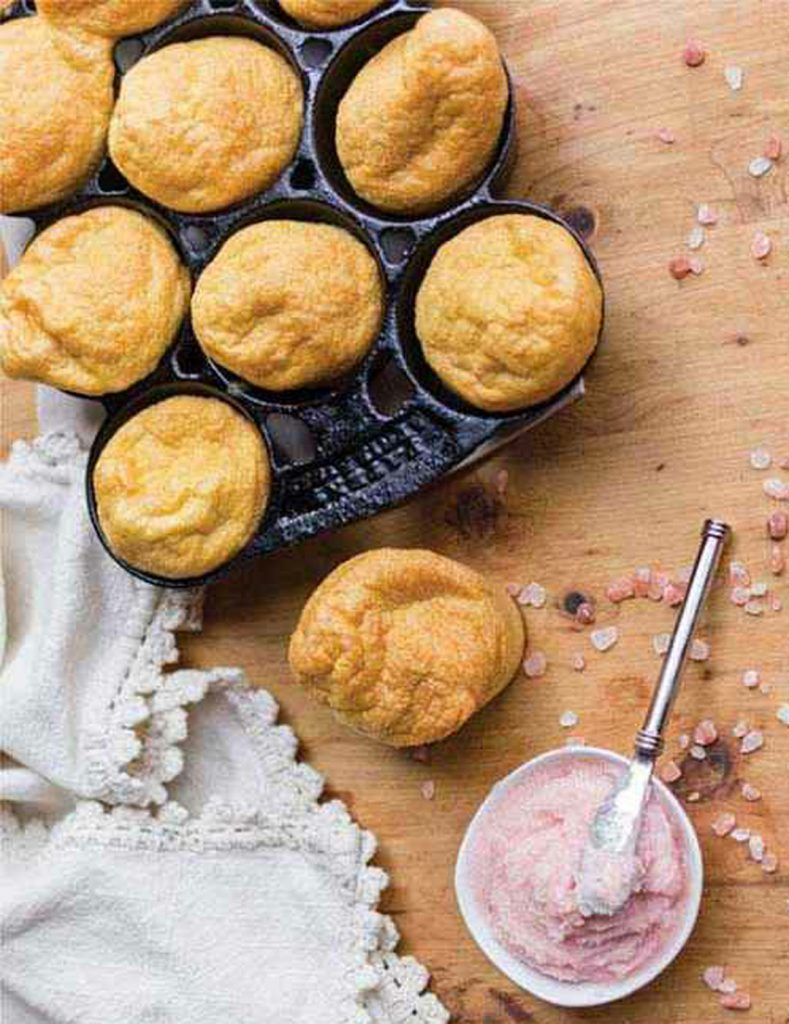 """Strawberry Popovers with Strawberry """"Butter"""" 