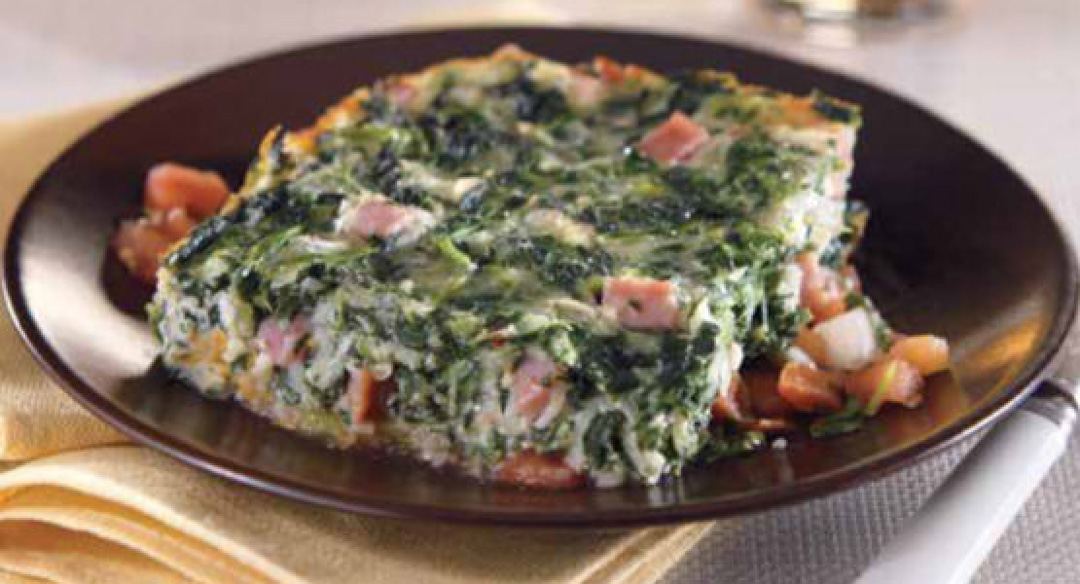 How to Make Crustless Spinach and Ham Quiche | Healthy Recipe