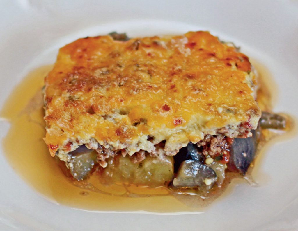 how to make moussaka with eggplant